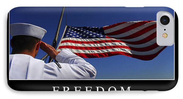 Freedom Inspirational Quote Phone Case by Stocktrek Images