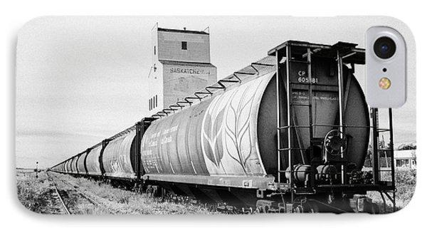 freight grain trucks on former canadian pacific railway now great sandhills railway through leader S IPhone Case by Joe Fox