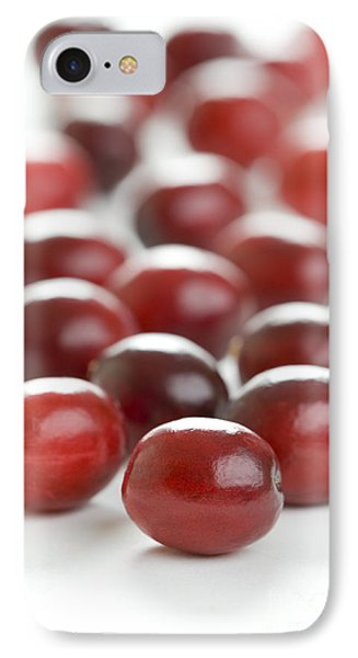 IPhone Case featuring the photograph Fresh Cranberries Isolated by Lee Avison