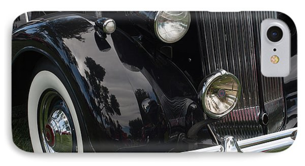 IPhone Case featuring the photograph Front Side Of A Classic Car by Gunter Nezhoda