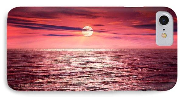 Full Moon Over An Ocean IPhone Case by Detlev Van Ravenswaay