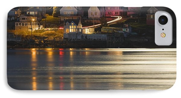 Full Moon Over Kennebec River Georgetown Island Maine IPhone Case
