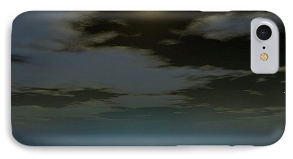 Full Moon Over The Sea IPhone Case by Detlev Van Ravenswaay