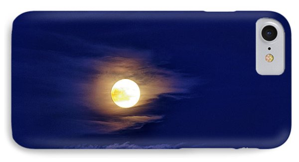 Full Moon With Clouds Phone Case by Thomas R Fletcher