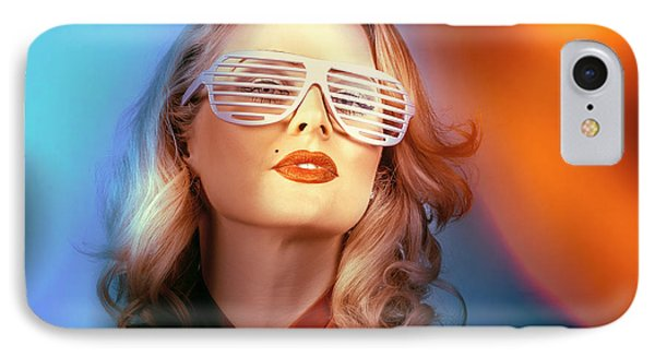 Funky Pin-up Fashion Girl In Retro American Style IPhone Case