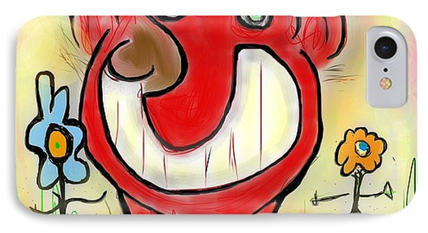 Funny Face IPhone Case by Susan Townsend