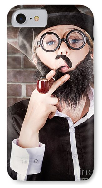 Funny Private Eye Detective Smoking Pipe IPhone Case