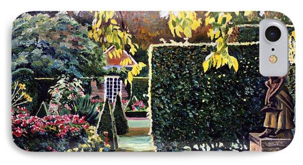 Garden Statue IPhone Case by David Lloyd Glover
