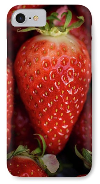 Gariguette Strawberries IPhone Case by Aberration Films Ltd