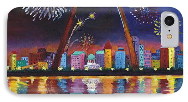 IPhone Case featuring the painting Gateway Arch by Ping Yan