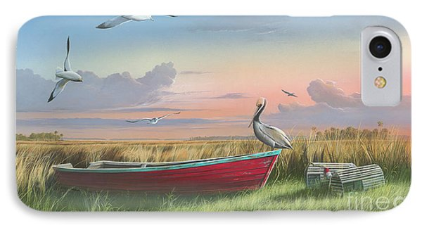 Gathering At Sunrise IPhone Case by Mike Brown
