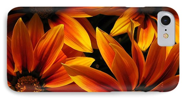 IPhone Case featuring the photograph Gazania Named Kiss Orange Flame by J McCombie