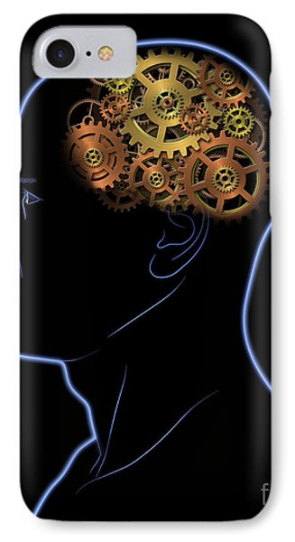 Gears In The Head Phone Case by Michal Boubin