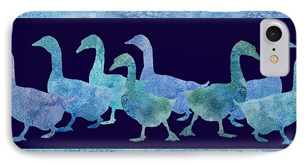 Geese Batik IPhone 7 Case by Jenny Armitage
