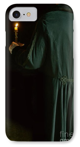 Gentleman In 18th Century Clothing With A Candle IPhone Case by Jill Battaglia