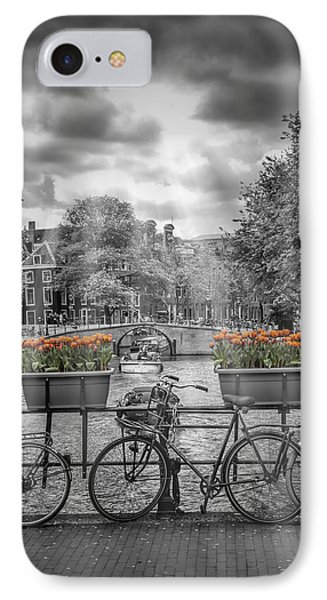 Gentlemens Canal Amsterdam IPhone Case by Melanie Viola