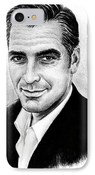 George Clooney IPhone Case by Andrew Read