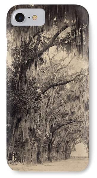 IPhone Case featuring the painting Georgia Oak Trees, C1887 by Granger
