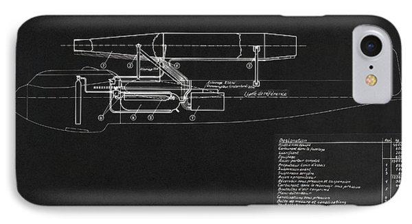 German Wwii Ramjet Bomber Blueprint IPhone Case by Detlev van Ravenswaay