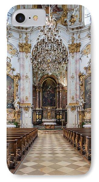 Germany, Bavaria, Ettal, Kloster Ettal IPhone Case by Walter Bibikow