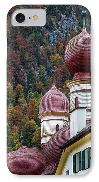 Germany, Bavaria, Konigsee, St IPhone Case by Walter Bibikow