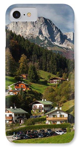 Germany, Bavaria, Maria Gern Village IPhone Case by Walter Bibikow