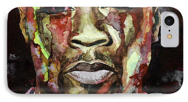 IPhone Case featuring the painting Get Rich Or Die Tryin' by Laur Iduc