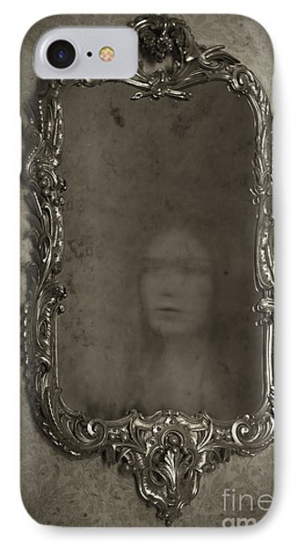 Ghost Of A Woman Reflected In A Mirror Phone Case by Lee Avison