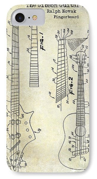 Gibson Guitar Patent Drawing IPhone Case