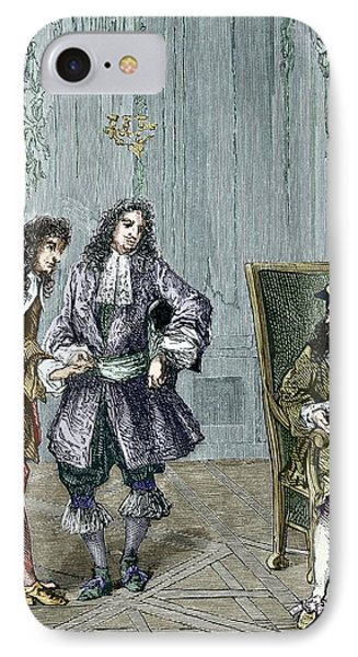 Giovanni Cassini And King Louis Xiv IPhone Case by Sheila Terry