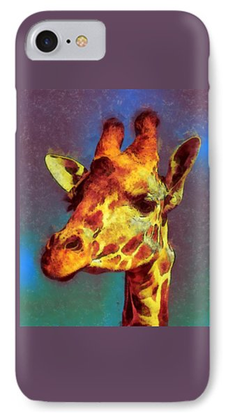 Giraffe Abstract IPhone Case by Ernie Echols