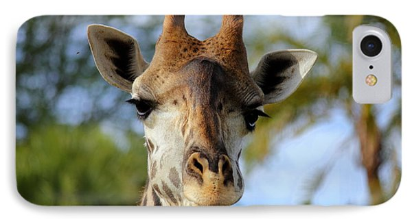 IPhone Case featuring the photograph Giraffe by Lisa L Silva