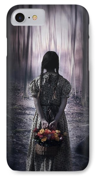 Girl In The Woods Phone Case by Joana Kruse