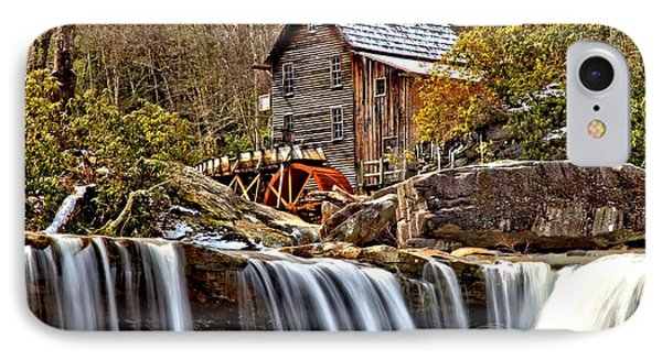 Glade Creek Grist Mill IPhone Case by Adam Jewell