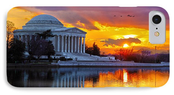 Jefferson Memorial iPhone 7 Case - Glow by Mitch Cat