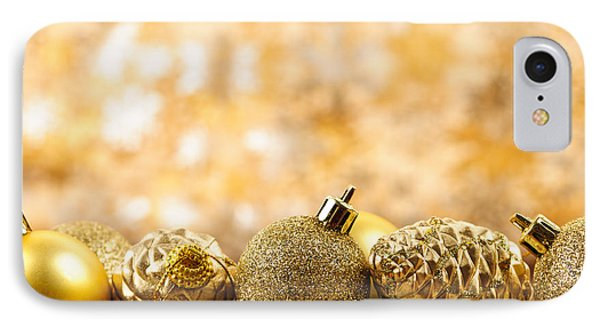 Golden Christmas  IPhone Case by Elena Elisseeva