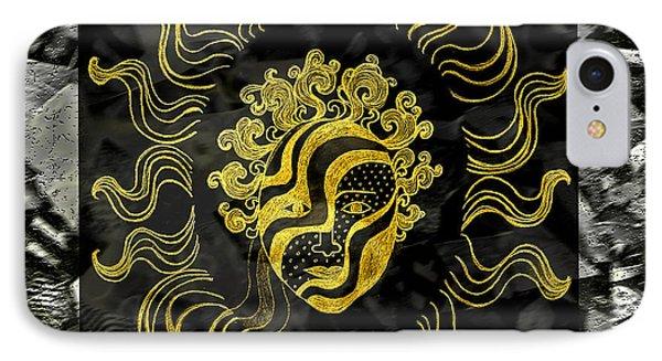 Golden God IPhone 7 Case by Nareeta Martin