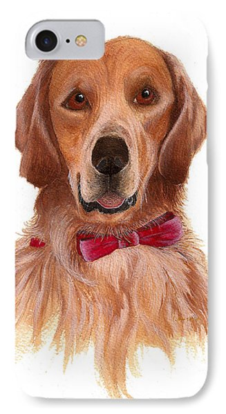 IPhone Case featuring the painting Golden Labrador by Nan Wright