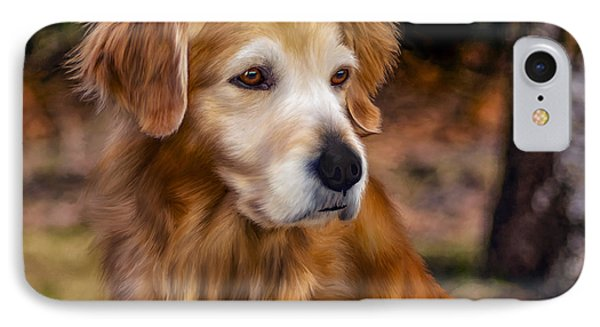 Golden Retriever Phone Case by Laird Roberts
