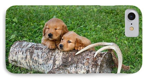 Golden Retriever Puppies Phone Case by Linda Freshwaters Arndt