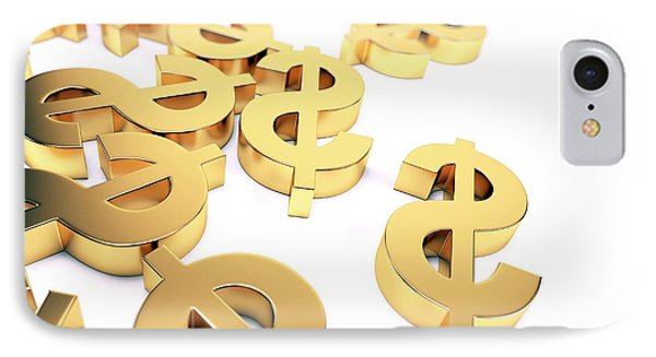 Golden Us Dollar Signs IPhone Case