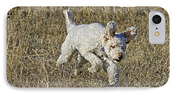 Goldendoodle Running IPhone Case