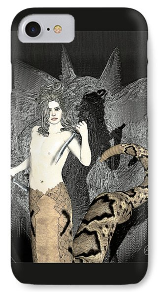 Gorgon Medusa  IPhone 7 Case by Quim Abella