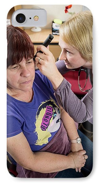Gp Examining Patient IPhone Case by Jim Varney