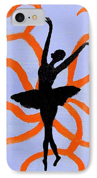 IPhone Case featuring the painting Graceful Silhouette by Margaret Harmon
