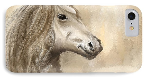 Gracious Wild- Cream And Brown Painting IPhone Case by Lourry Legarde