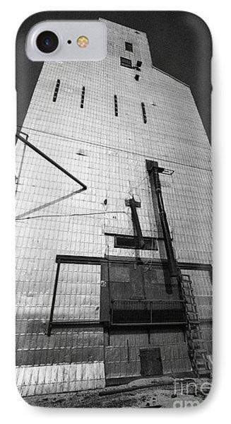 grain elevator doors and filling pipe leader Saskatchewan Canada IPhone Case by Joe Fox