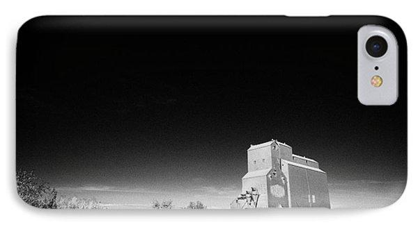 grain elevator landmark bengough Saskatchewan Canada IPhone Case by Joe Fox
