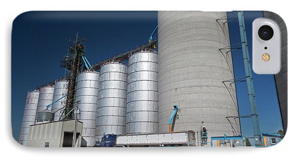 Grain Truck Being Filled At A Silo IPhone Case