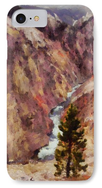 IPhone Case featuring the painting Grand Canyon Of The Yellowstone by Kai Saarto